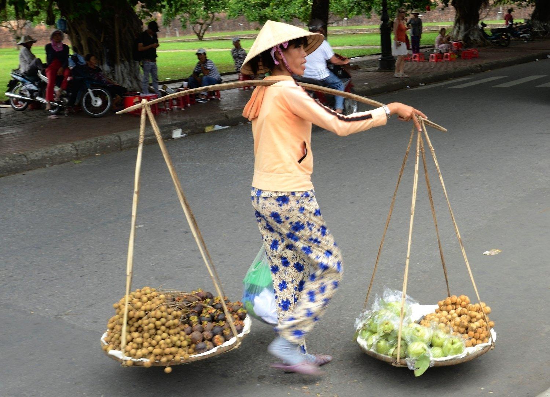 Transport de fruits - Hanoi